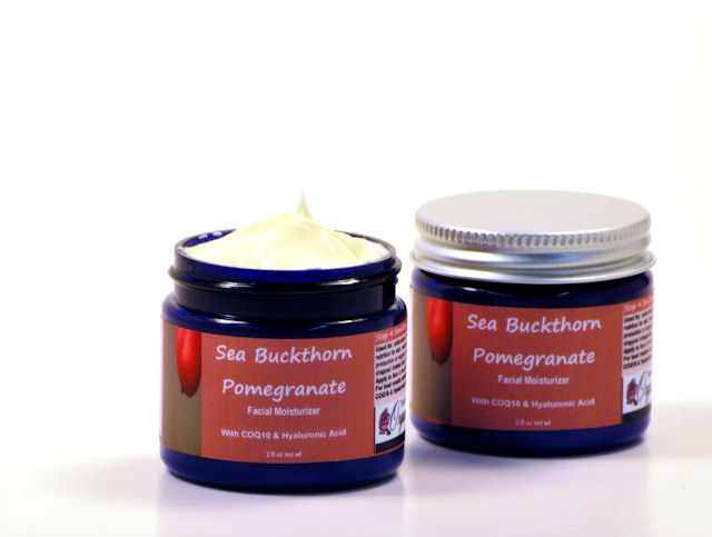 Sea Buckthorn Pomegranate Facial and Body cream with COQ10 and Hyaluronic acid